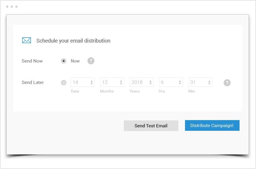 Plan in advance - multiple email campaign distribution