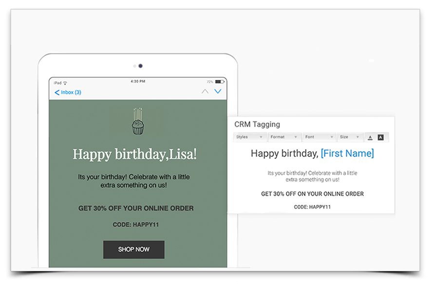 email campaigns that drives traffic to your site using call to action buttons