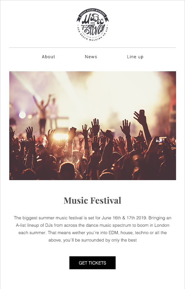 concert email template